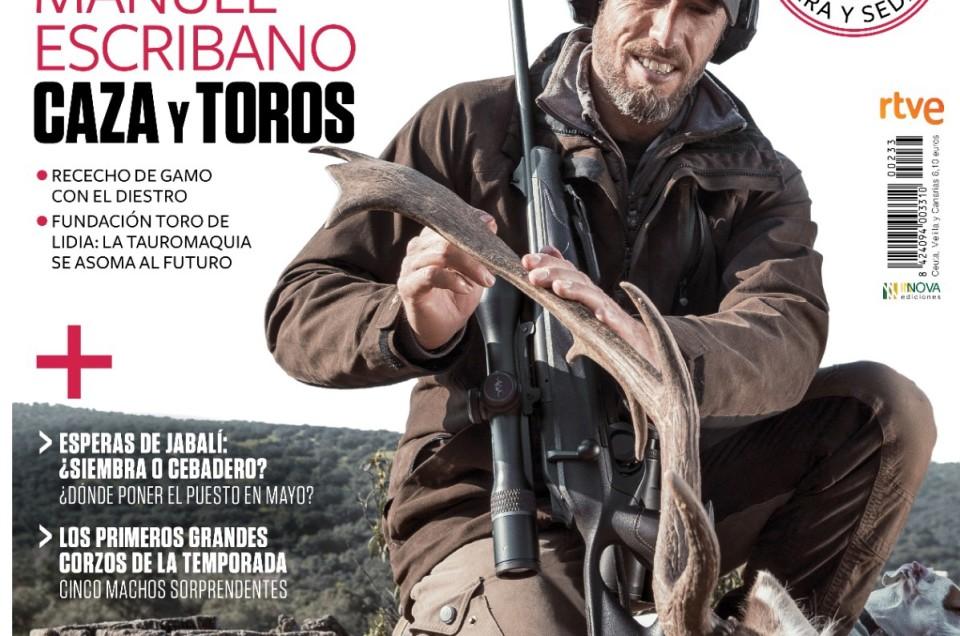 Manuel Escribano, portada de la revista JARA Y SEDAL.